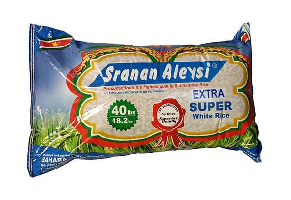 Sranan Alesie Super Extra Surinaamse Rijst 40 LBS-18,2 KG-slider